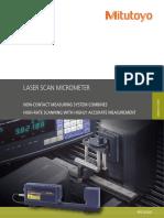 Mitutoyo - Mikrometry Laserowe Laser Scan Micrometer - PRE1033(4) - 2013 EN