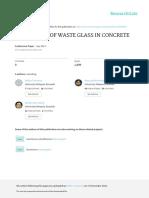 Utilization of Waste Glass in Concrete