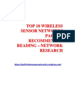 TOP 10 WIRELESS SENSOR NETWORKS PAPERS