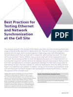 Best Practices Testing Ethernet and Network Synchronization Cell Site Application Notes En