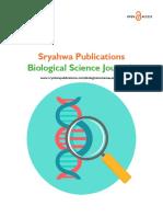 Biological Science Journals - Sryahwa Publications