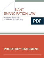 The Tenant Emancipation Law (1)