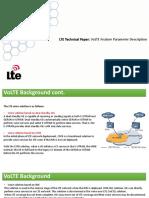 LTE Technical Paper. VoLTE Feature Parameter Description