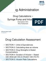 Penghitungan Obat Used Syringe Pump