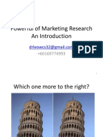 Powerful of Marketing Research