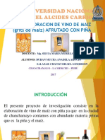 Elaboracion de Vino de Maiz Afrutado