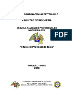 Estructura de Proyecto de Tesis I UNT