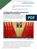 Xi Jinping Elogia a Karl Marx Como Guía de La Humanidad en Su Bicentenario