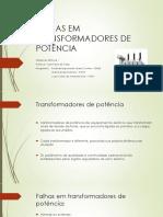 Tema 6 – Falhas Em Transformadores de Potência
