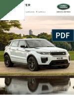 18MY Range Rover Evoque Specification