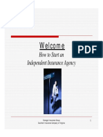 Starting Independent Insurance Agency