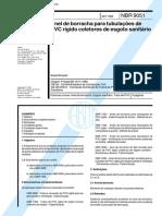 ABNT NBR 9051 - Anel de borracha para tubulações de PVC rígido coletores de esgoto sanitário.pdf