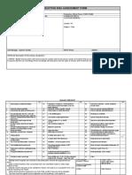 risk assessment form production media 4 1
