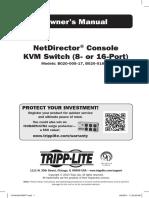 Tripp Light Console Kvm Manual