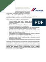 Política de Salud y Seguridad de Cemex