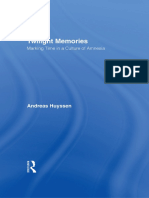 Andreas Huyssen-Twilight Memories_ Marking Time in a Culture of Amnesia-Routledge (1994)