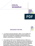 73740135 Manual Wonderlic