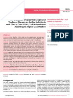 An Evaluation of Upper Lip Length and Thickness Changes on Smiling in Patients With Class i Class II Div1 2 of Malocclusion According to Angles Classification