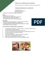 En Qué Consiste La Higiene de Los Alimentos