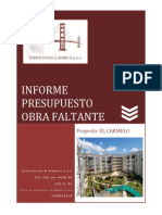 Informe Presupuesto Obra Faltante Carmelo