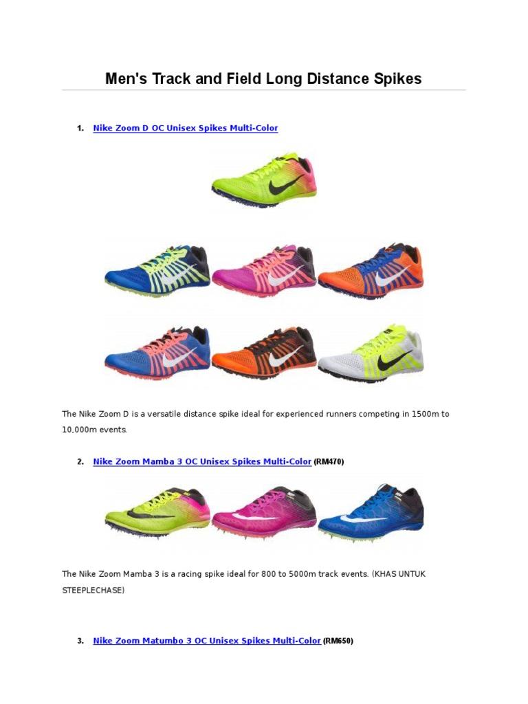 d3981210697e1e Katalog Spike Nike Mengikut Acara