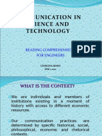 Communication in Science and Technology