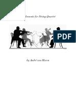 10 Moments for String Quartet - main score+parts