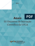 2017 ANAIS III Encontro de Iniciacao Cie