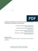 La experiencia corporizada en los procesos de enseñanza y aprendizaje de metodologías de investigación acción participativa