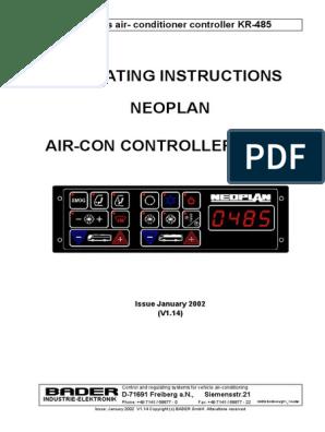 0485 Bader Klima Neoplan | Air Conditioning | Hvac