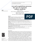M&a Process -The Use of Corp Culture Analysis_Weber _2012