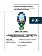 Tesis Industria Textil Bolivia