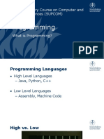 [1] Slides - What is Programming