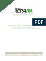 Informe Estado Del Arte de Rehabilitación de Carreteras Primeraspáginas