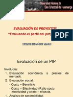 Evaluación Del Perfil Del Proyecto