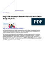 Eu Science Hub - Digital Competence Framework for Educators Digcompedu - 2018-03-09