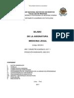 Silabo m.legal Medicina 2017