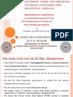 Ph.D Proposal Presentation