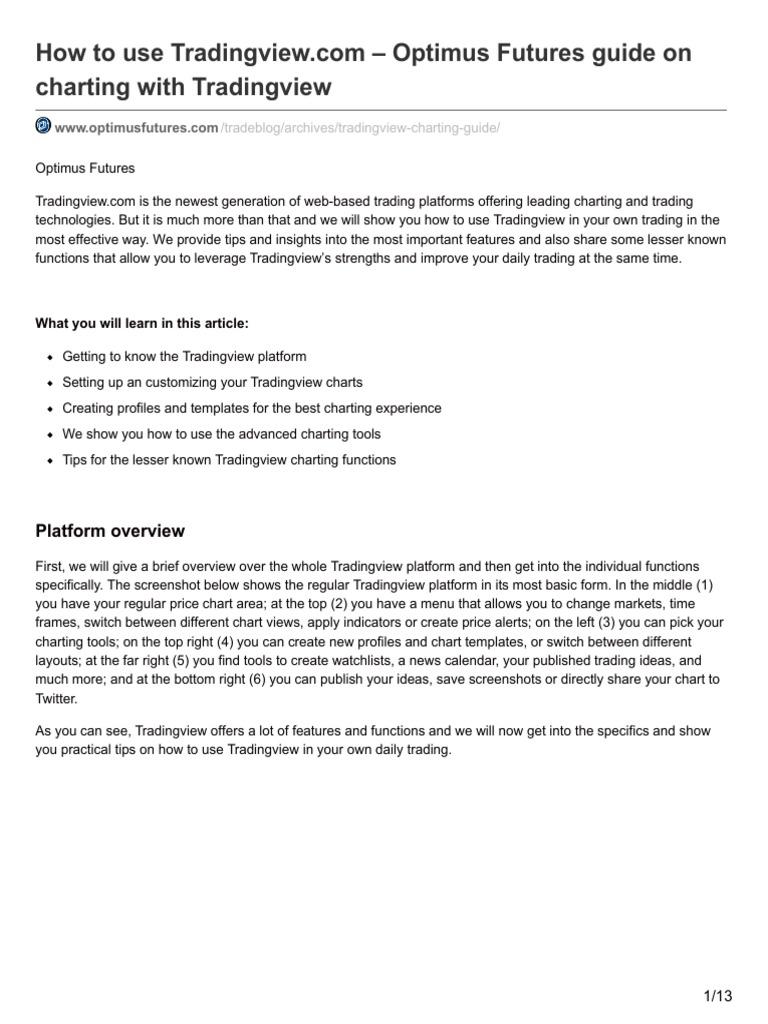 TRADING VIEW Guide pdf | Icon (Computing) | Menu