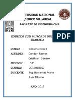 Edificaciones Con Muros Ductiles Constrccion II