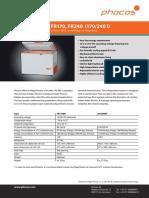 Phocos Datasheet FR-Serie e Web