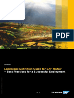 Landscape Definition Guide for HANA