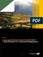 Landscape Definition Guide for HANA