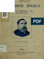 KAUTSKY (1899) Frederick Engels His Life His Work and His Writings Pq