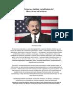 Los Orígenes Judíos Trotskistas Del Neoconservadurismo