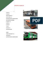 Líneas de Transporte Publico