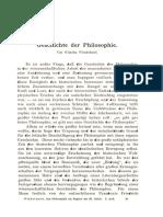 Windelband. Geschichte Der Philosophie