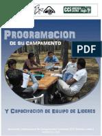 Programación de su Campamento y Capacitación de Equipo de Líderes