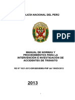 Manual de Intervencion e Investigacion de Transito