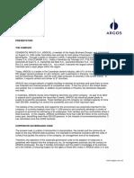 Cement o Sargos Corporate Governance Code